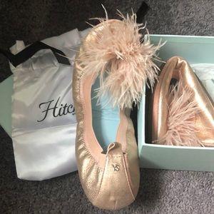 NIB Yosi Mariboo Ballet Flat in Rose Gold 10